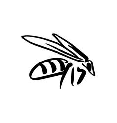 Bee sketch vector