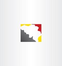 belgium map logo icon vector image
