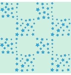 Blue star seamless pattern vector image