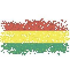 Bolivian grunge tile flag vector