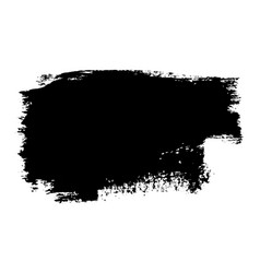 brush stroke isolated on white background black vector image