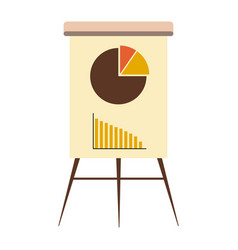 business graph on a board vector image