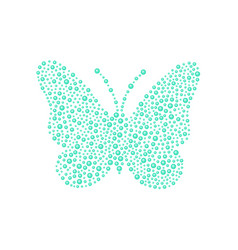 Butterfly in turquoise design vector