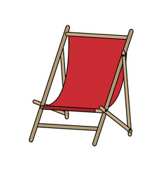 Color image cartoon wooden chair for beach vector