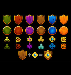 Create celtic shield set icons constructor vector