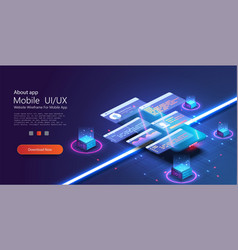 custom design for a mobile application ui ux vector image
