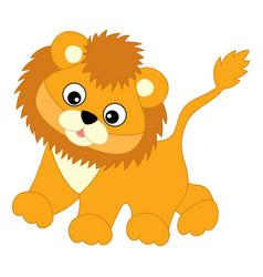 Cute balion walking lion cub vector