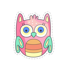 Cute owlet colorful cloth patch applique for vector