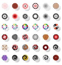 design elements set with rotation vector image