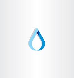 Drop water blue logo sign vector