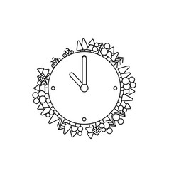 ecological concept design clock vector image