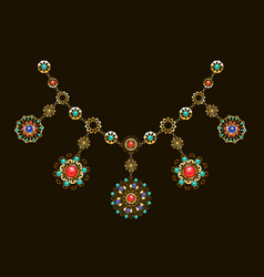 Ethnic necklace vector
