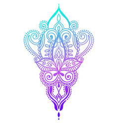 ethnic paisley hand draw tattoo design henna vector image