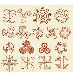 Ethnic tribal native sun symbol vector