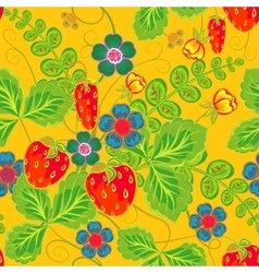 Excellent seamless pattern with hand drawing vector image