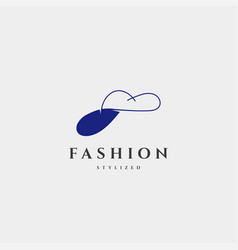 Fashion lady beauty collection in simple line vector
