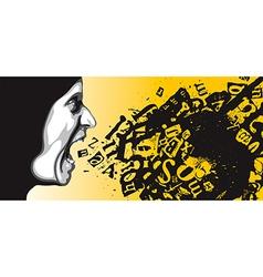 Feelings of anger vector image
