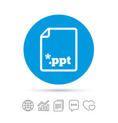File presentation icon download ppt button vector