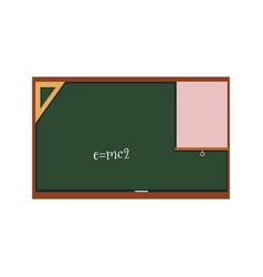 flat blackboard with written energy formula vector image