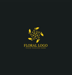 floral logo template logo for business corporate vector image