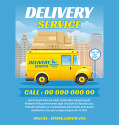freight delivery truck vector image