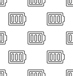 full battery seamless pattern vector image