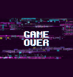 game over fantastic computer background with vector image