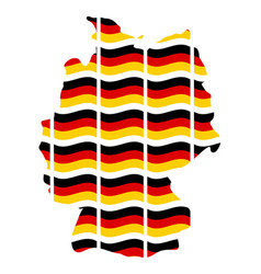 germany map flag symbol icon design german flag vector image