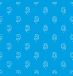 glaze ice cream pattern seamless blue vector image