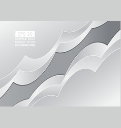 gray abstract wave overlap background with copy vector image