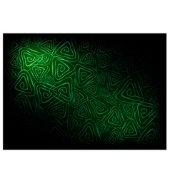 Green Vintage Wallpaper with Triangle Spiral vector image