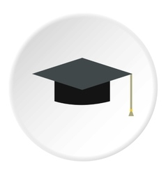Hat student icon flat style vector image