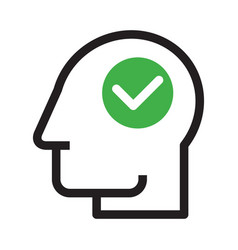head with check mark vector image