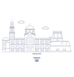 heraklion city skyline vector image