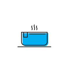 Hot hot tub tub icon isolated on white background vector