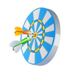 Icon dart vector