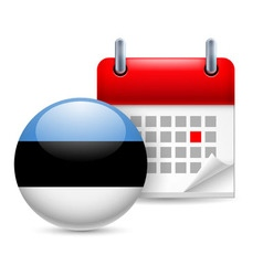 Icon of national day in estonia vector