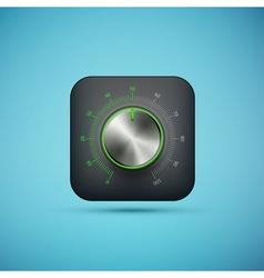 Knob icon vector