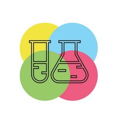 laboratory tubes icon - chemistry and science vector image