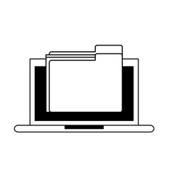 Laptop computer icon image vector