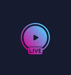 live stream vector image