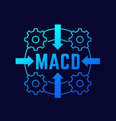 Macd indicator concept vector