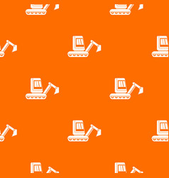 Mini excavator pattern seamless vector