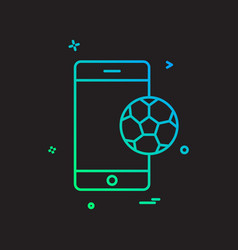 mobile football icon design vector image