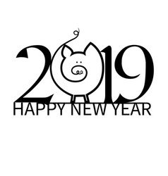 new year on the background vector image