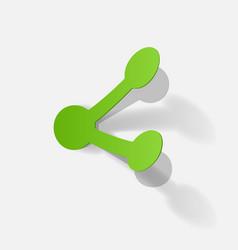 Paper clipped sticker symbol share vector