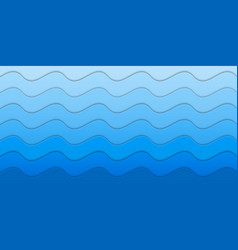 paper sea waves pattern vector image