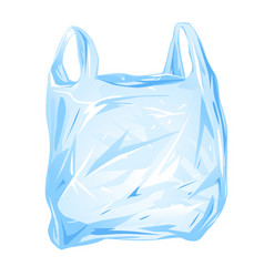 plastic bag isolated vector image