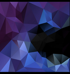 polygonal square background black blue purple vector image