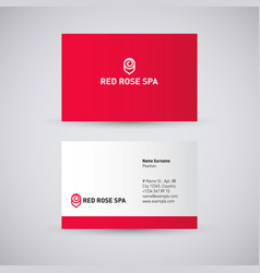 Red rose spa logo vector
